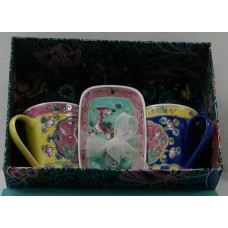 Peranakan 2Coffee Mug With A Small Tray
