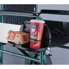 Double cup holder for wheelchair